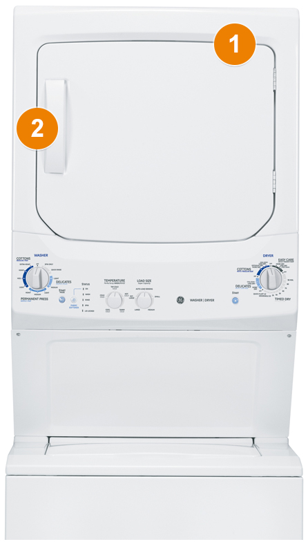 Ge Appliances Model And Serial Number Locator Space Saving Laundry Units