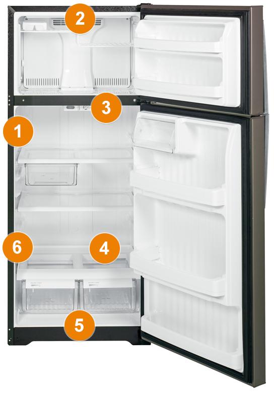 Ge Appliances Model And Serial Number Locator Top Freezer Refrigerators