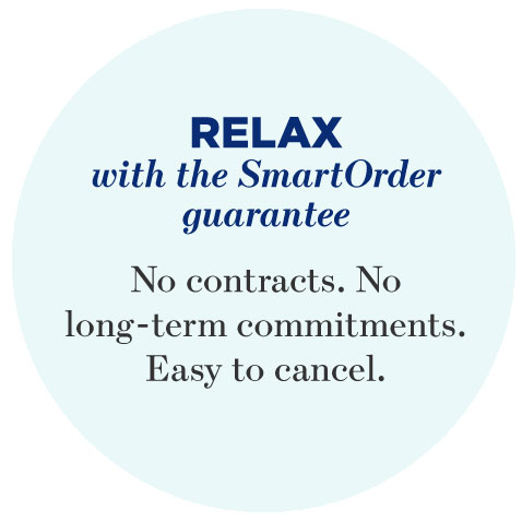 Relax with SmartOrder guarantee