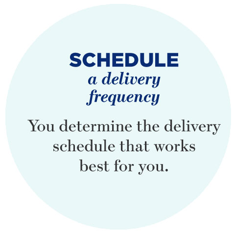 Schedule a delivery frequency