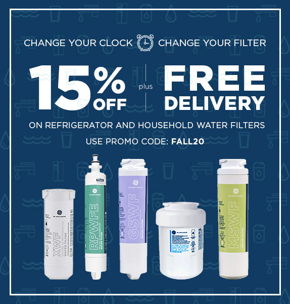 Save 15% + FREE shipping on Refrigerator & Household water filters. Use Promo Code: FALL20